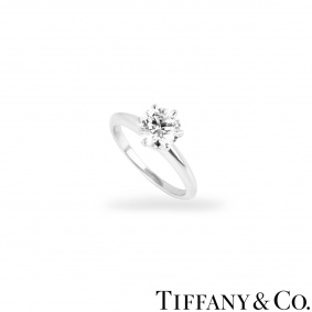 Tiffany & Co. Platinum Diamond Setting Ring 1.27ct G/VS1